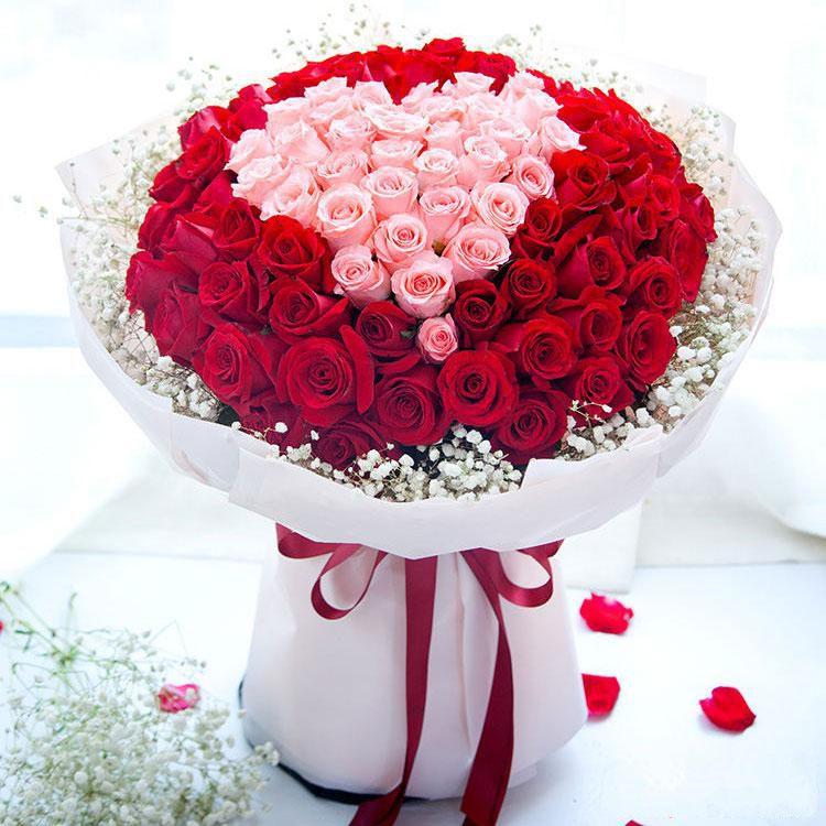 相守一生_33枝戴安娜、66枝红玫瑰、满天星外围