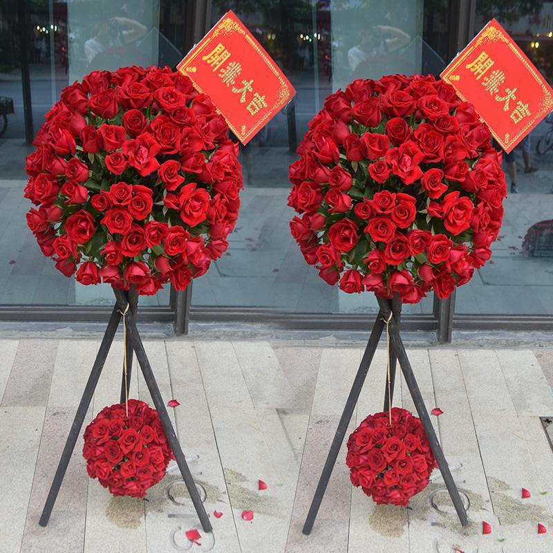 富贵吉祥_精品红玫瑰花球(请至少提前1天预定,或订购前咨询客服)